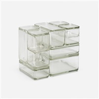kubus stacking containers (set of 10) by wilhelm wagenfeld