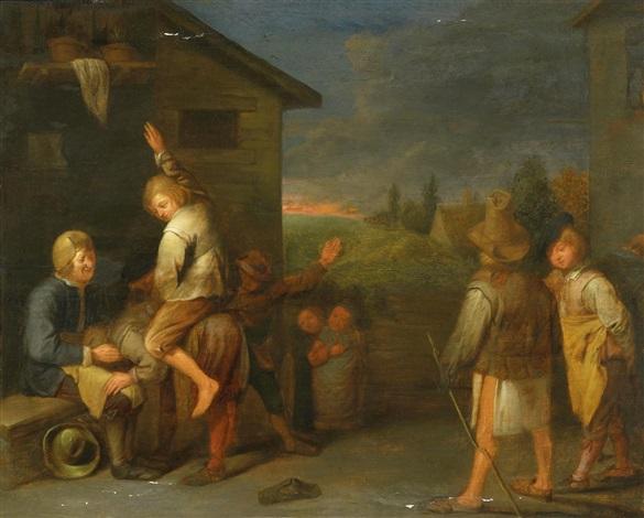 spielende bauerskinder by david ryckaert iii