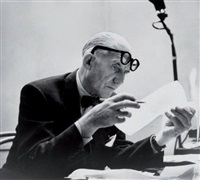le corbusier, 20 octobre by robert doisneau