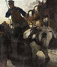 på gatan, aftonstämning by gösta von hennigs