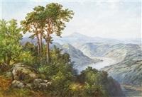 elbtal bei salesel mit dubitzer berg-kirche by friedrich arnold