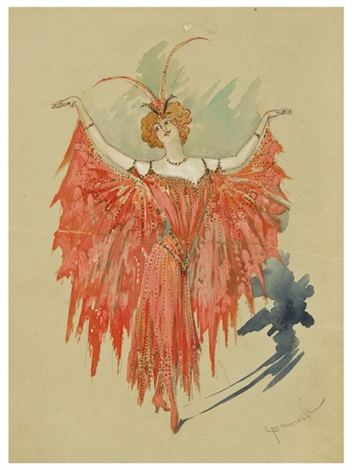 the moth queen costume (design for babes in toyland) by caroline f. seidle & The moth queen costume design for Babes in toyland by Caroline F ...