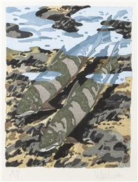 trout in a stream by neil welliver