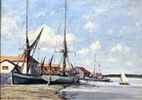 barges- maldon by hugh boycott-brown