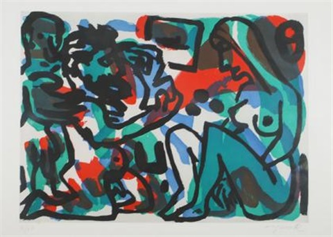 aus berlin suite 2 weibliche figuren by ar penck