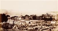 maroc. vue de la rade de tanger, scène de marché by jean baptiste alary