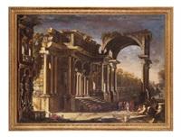 capriccio con rovine by francesco battaglioli
