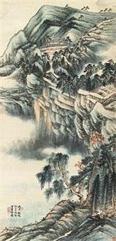 松壑高寺图 by liu lishang