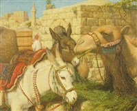 a stable yard, jerusalem by william j. (webbe) webb