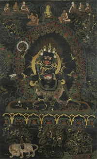 a thangka of shadbhuja mahakala by anonymous-tibetan (19)