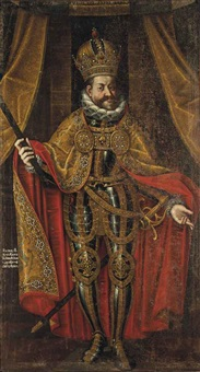 portrait of rudolf ii, holy roman emperor, king of hungary and croatia, king of bohemia and archduke of austria (1552-1612)fleece by hans von aachen