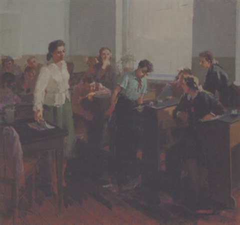 children in the classroom by zhenia arutyunyan