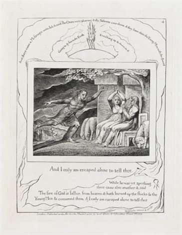 and i only am escaped alone to tell thee from illustrations of the book of job series by william blake