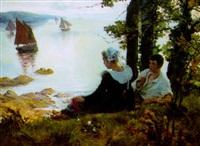 romance devant la baie en bretagne by victor edmond charles fournier