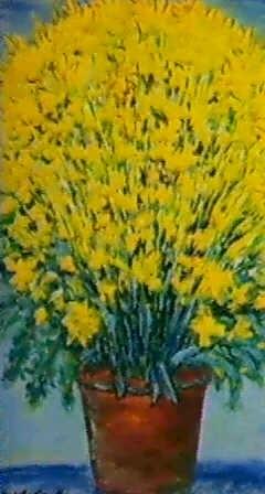 Fiori Gialli Vaso.Vaso Con Fiori Gialli By Michele Cascella On Artnet