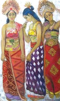 penari bali (balinese dancer) by isa hassanda