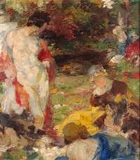 mujeres en el jardín by françois edouard zier