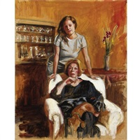 study for portrait with pablo and chiquita 1 by delia brown