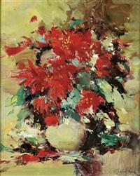 natureza morta - jarra com flores by silva lino