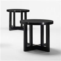 low stools (pair) (model 820y) by richard meier