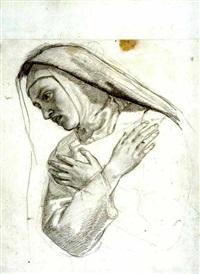 la mort de la vierge (5 studies, 5 others; 10 works) by alexandre-francois caminade
