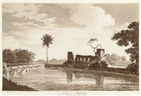 a view of shekoabad (+ a view of the fort of peteter; 2 works) by william hodges
