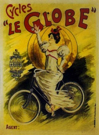 cycles société le globe. georges hentley constructeur, paris by posters: sports - cycling