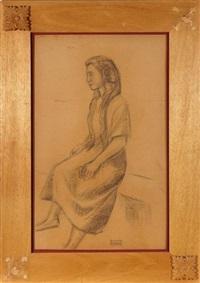 la femme assise à la mantille by ramiro arrue