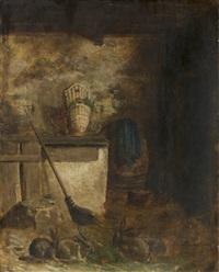intérieur d'étable by philippe rousseau