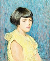 portrait de jeune fille by kasimir dunin markiewicz