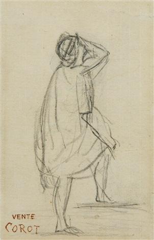 Dessin figurant une tude personnage en toge by jean - Camille dessin ...