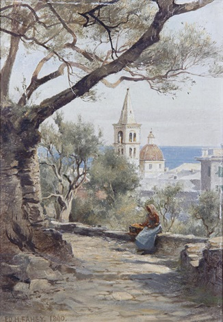 untitled italian view another pair by edward henry fahey
