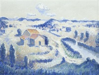 house and river by norman lloyd