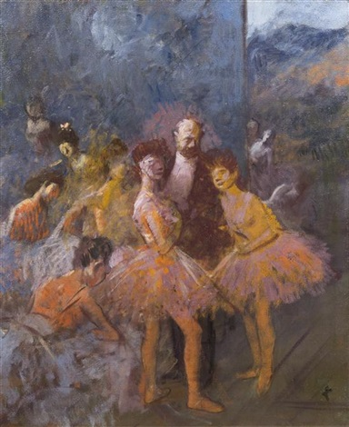 le foyer a lopera by jean louis forain