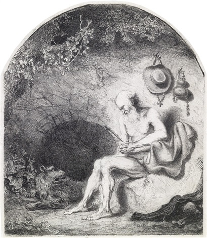 st jerome in the cave by ferdinand bol