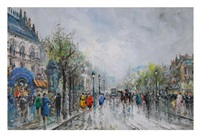 parisian boulevard by pietro demone