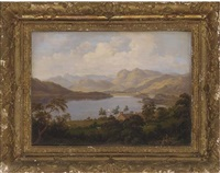 windermere from the low wood by samuel mountjoy smith