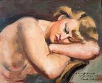 modèle endormi by charles alexandre picart le doux