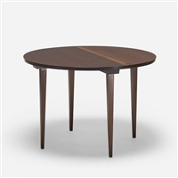 custom round dining table by george nakashima
