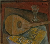 nature morte (mandoline) by rené (victor) auberjonois