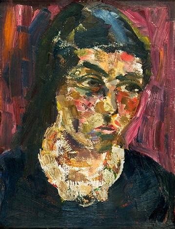 porträt annemarie die gattin des künstlers oil studies verso by joachim heuer