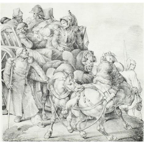 chariot charge de soldats blesses by théodore géricault