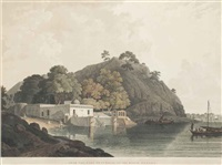near currah, on the river ganges; siccra gulley on the ganges (2 works) by thomas daniell