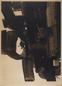 lithographie n°20 a by pierre soulages