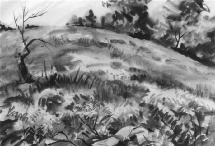 hillside landscape spring by agnes anne abbot