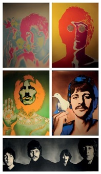 the beatles 1968 (set of 5 posters) by richard avedon