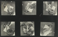 contact sheet (self-portrait, providence, rhode island) by francesca woodman