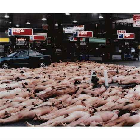 23rd street and tenth avenue, nyc 2 by spencer tunick