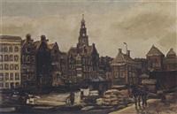 a town view by hendrik cornelis kranenburg
