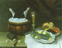stilleben mit sekt und kavier by heinrich dendl